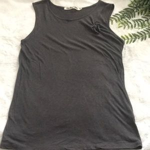 Michael Stars knotted tie tank grey